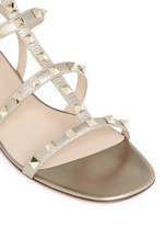 'Rockstud' caged leather sandals