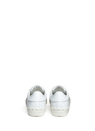 Back View - Click To Enlarge - Valentino - Colourblock leather stud sneakers