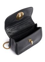 'Lois' turnlock sheepskin leather shoulder bag