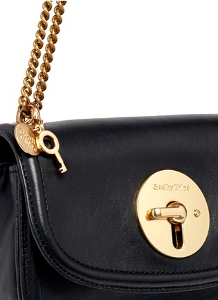Detail View - Click To Enlarge - See by Chloé - 'Lois' turnlock sheepskin leather shoulder bag