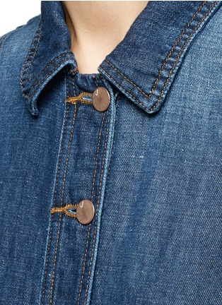 Detail View - Click To Enlarge - J Brand - 'Caressa' belted denim dress