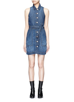 Main View - Click To Enlarge - J Brand - 'Caressa' belted denim dress