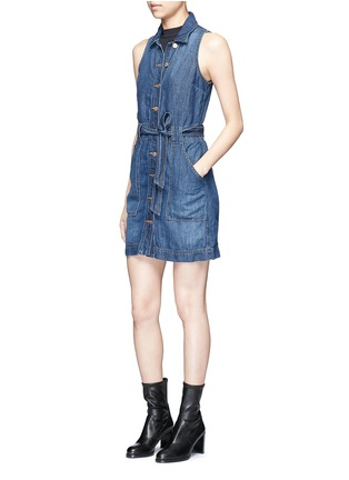 Figure View - Click To Enlarge - J Brand - 'Caressa' belted denim dress