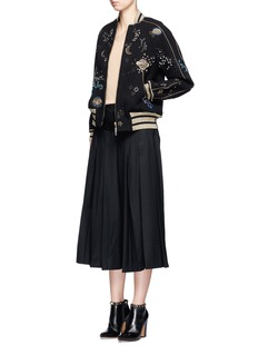 Valentino Cosmos embroidered wool bomber jacket