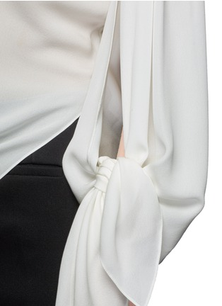 Detail View - Click To Enlarge - Balenciaga - Drape split sleeve silk top
