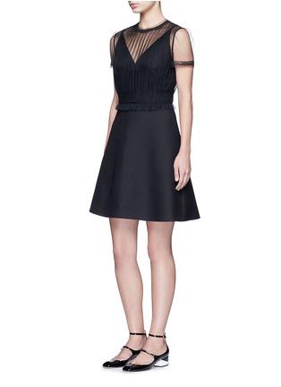 Valentino-Tulle bodice Crepe Couture dress