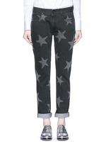 Star print skinny boyfriend jeans