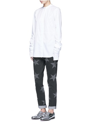 Figure View - Click To Enlarge - Stella McCartney - Star print skinny boyfriend jeans