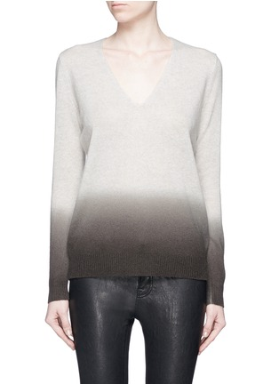 Main View - Click To Enlarge - Theory - 'Adrianna FD' ombré effect cashmere sweater