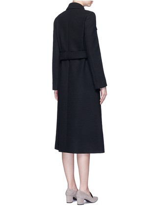 Back View - Click To Enlarge - Stella McCartney - Wool blend melton belted overcoat