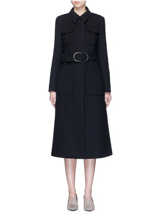 Main View - Click To Enlarge - Stella McCartney - Wool blend melton belted overcoat