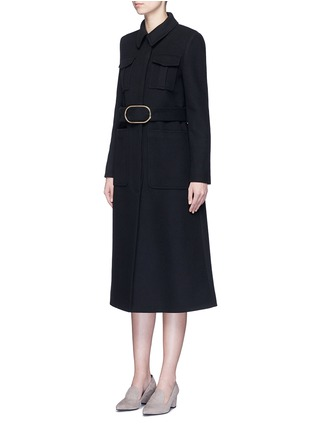 Figure View - Click To Enlarge - Stella McCartney - Wool blend melton belted overcoat