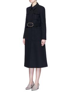 STELLA MCCARTNEYWool blend melton belted overcoat