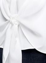'Zallane' tie front sleeveless silk shirt