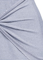 'Dakui' stripe waist tie jersey dress