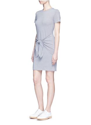 Figure View - Click To Enlarge - Theory - 'Dakui' stripe waist tie jersey dress
