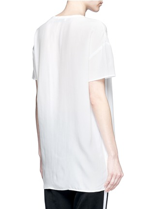 Back View - Click To Enlarge - Equipment - 'Riley' oversize silk T-shirt