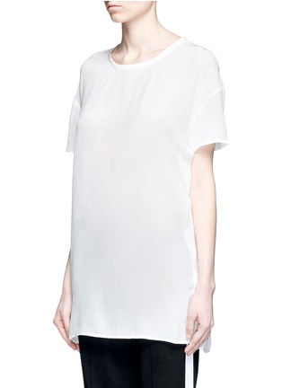 Front View - Click To Enlarge - Equipment - 'Riley' oversize silk T-shirt