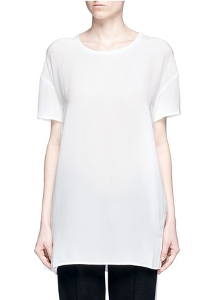 Main View - Click To Enlarge - Equipment - 'Riley' oversize silk T-shirt