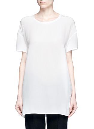 Equipment-'Riley' oversize silk T-shirt