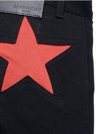 Detail View - Click To Enlarge - Givenchy - Star patch denim pants