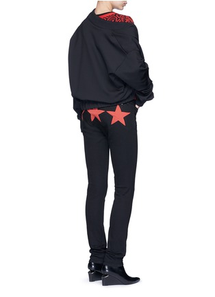 Figure View - Click To Enlarge - Givenchy - Star patch denim pants