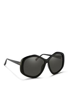 Linda FarrowOversize pentagon acetate sunglasses