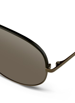 Detail View - Click To Enlarge - Linda Farrow - Coated browline titanium aviator sunglasses