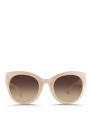Main View - Click To Enlarge - Linda Farrow - Oversize round cat eye acetate gradient sunglasses