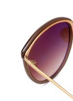 金属拼接圆框太阳眼镜
