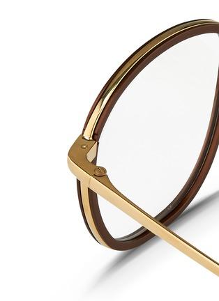 Detail View - Click To Enlarge - Linda Farrow - Aluminium rim titanium optical glasses