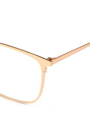 Detail View - Click To Enlarge - Linda Farrow - Titanium square optical glasses