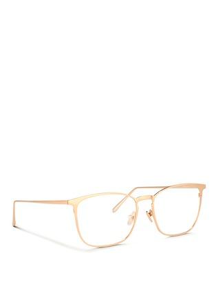 Figure View - Click To Enlarge - Linda Farrow - Titanium square optical glasses