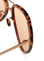 Titanium temple acetate aviator sunglasses