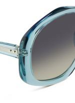 Oversize pentagon acetate sunglasses
