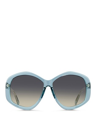 Main View - Click To Enlarge - Linda Farrow - Oversize pentagon acetate sunglasses