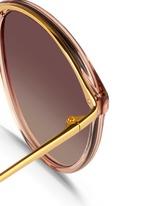 Titanium temple acetate round sunglasses