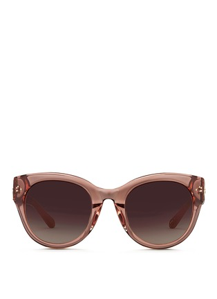 Main View - Click To Enlarge - Linda Farrow - Snakeskin temple oversize acetate gradient sunglasses
