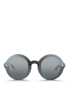 3.1 PHILLIP LIM Mounted lens frosted acetate round sunglasses