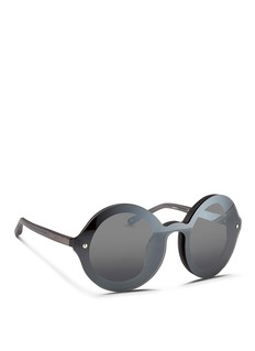 3.1 PHILLIP LIMMounted lens frosted acetate round sunglasses