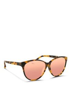 3.1 PHILLIP LIMOversize tortoiseshell acetate cat eye sunglasses