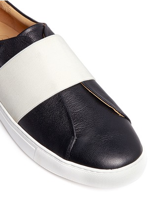 Detail View - Click To Enlarge - Bing Xu - 'Hudson' elastic band skate slip-ons