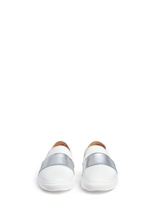 Bing Xu-'TriBeCa' mirror leather band skate slip-ons