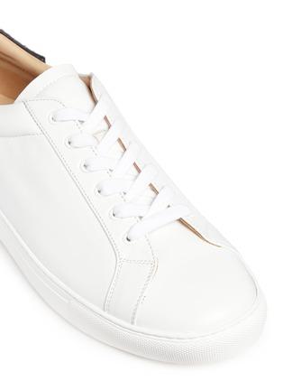 细节 - 点击放大 - BING XU - 小牛皮拼接蛇皮运动鞋