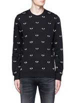 Eye print sweatshirt