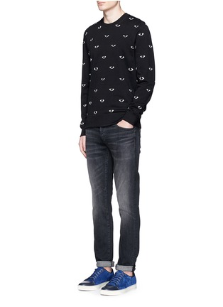 Figure View - Click To Enlarge - KENZO - Eye print sweatshirt