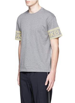 Front View - Click To Enlarge - KENZO - Logo print sleeve skate T-shirt