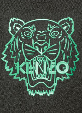 Detail View - Click To Enlarge - KENZO - Rubber tiger head print sweater
