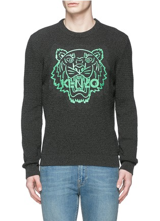 Main View - Click To Enlarge - KENZO - Rubber tiger head print sweater