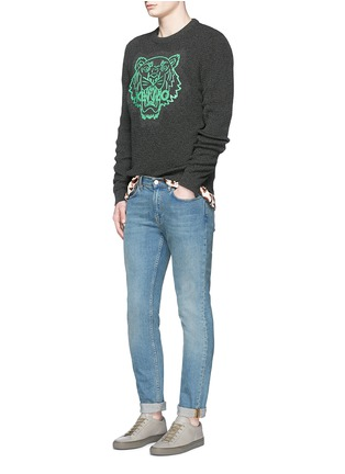 Figure View - Click To Enlarge - KENZO - Rubber tiger head print sweater